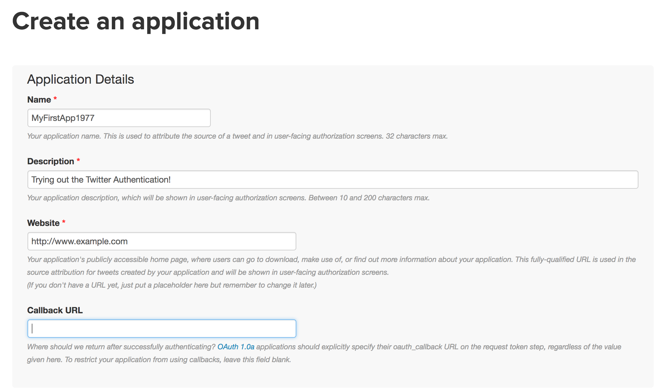 Creating a Twitter Application for Programmatic Access with Twython